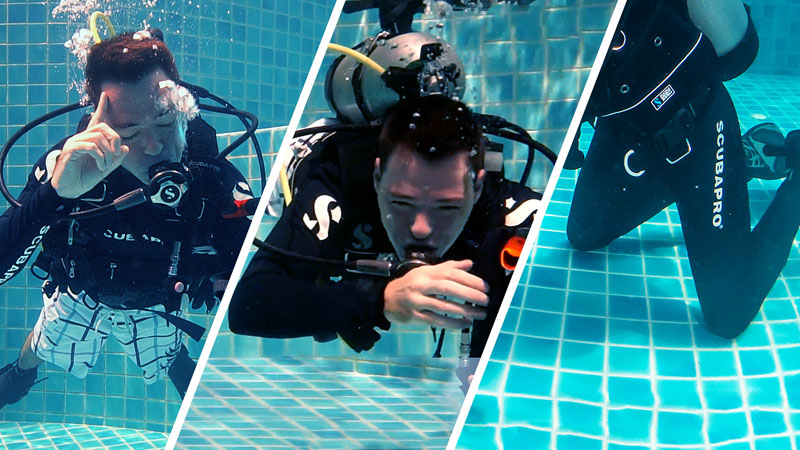 Neutrally Buoyant VS Kneeling - What Is The Difference Teaching Scuba Diving Skills
