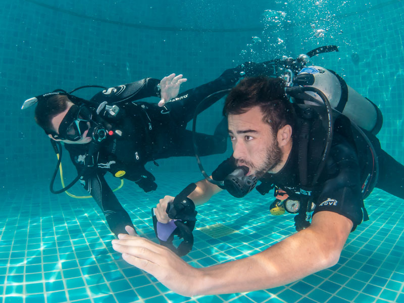 PADI Confined Water Skill Practice